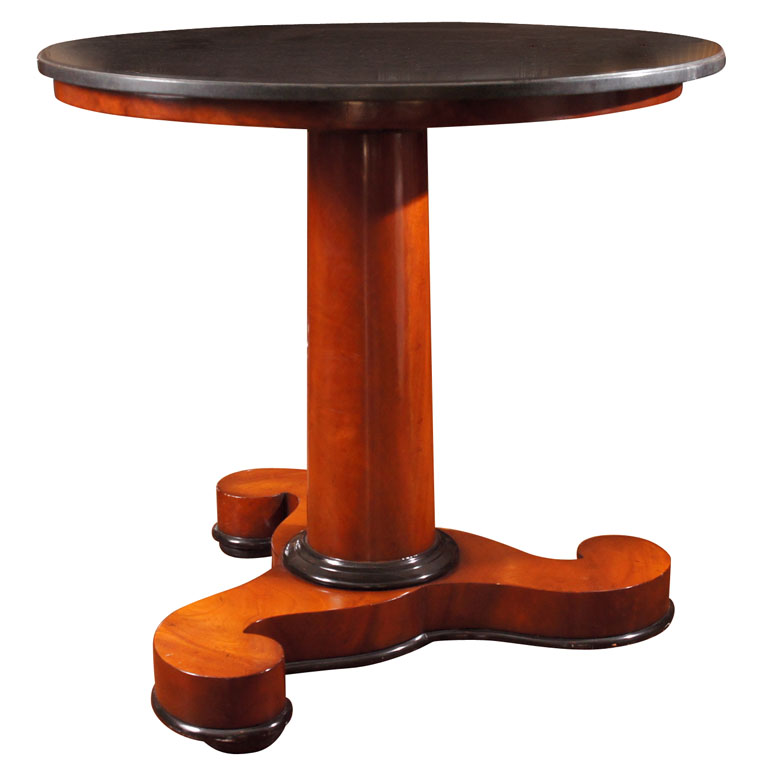 Biedermeier Style Walnut and Ebonized Side  Table