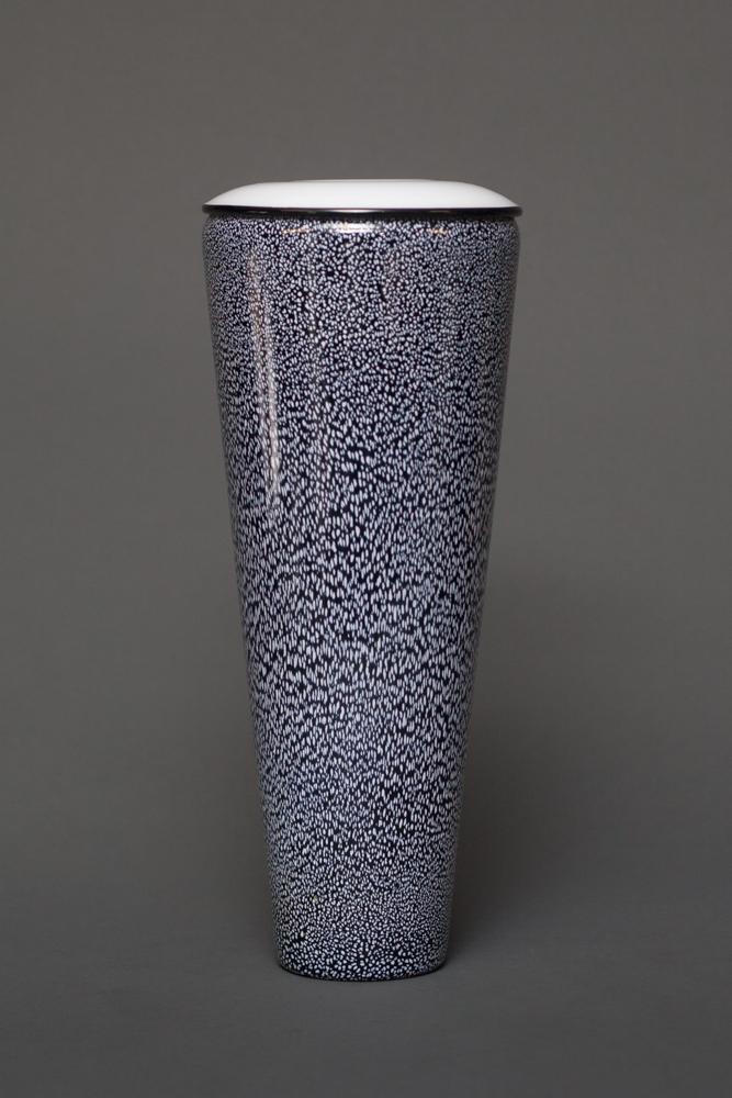 Black and White Glass Vase