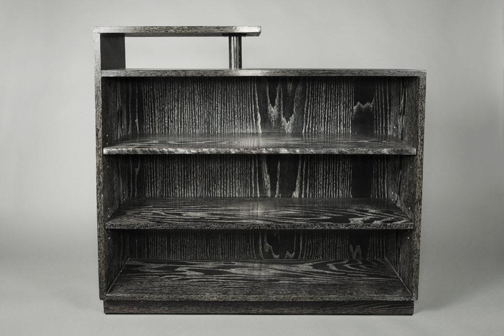Black Cerused Oak Bookcase