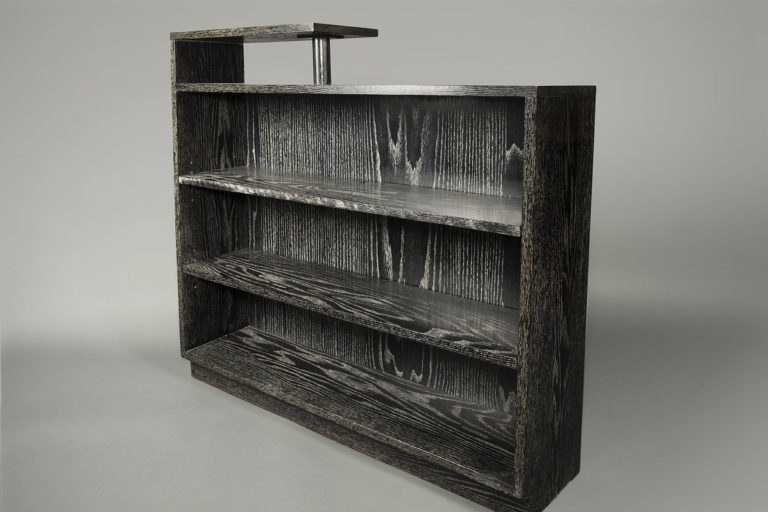 Black Cerused Oak Bookcase