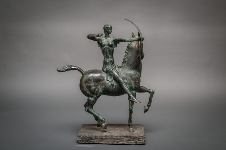 Bronze Horse with Archer