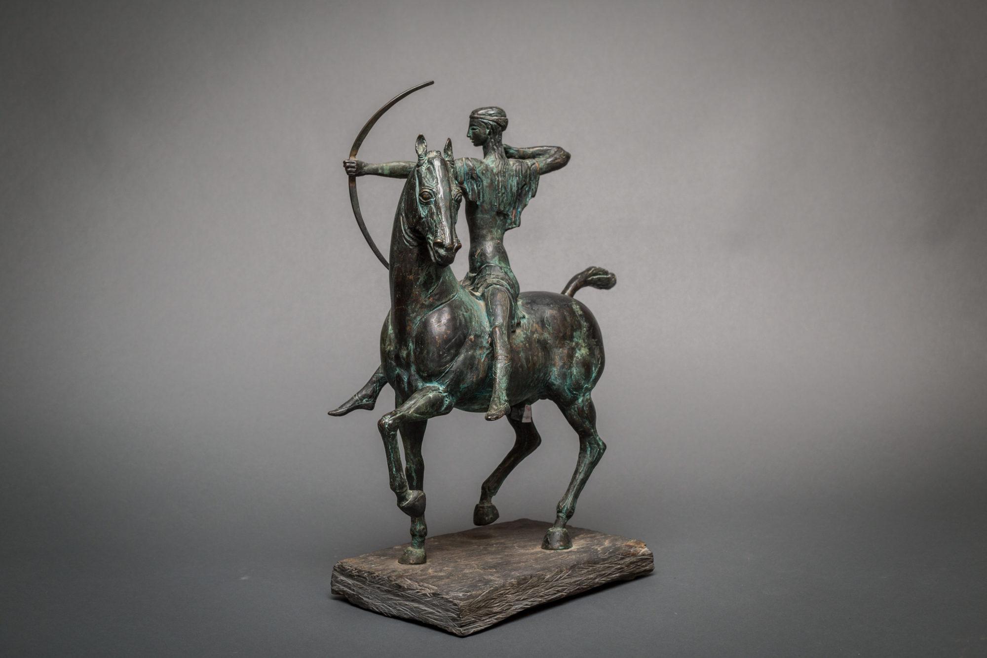 Bronze Horse with Archer