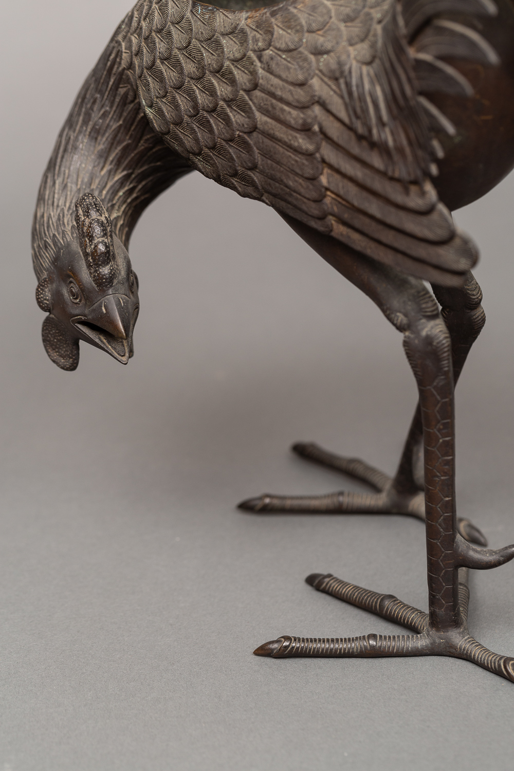 Bronze Koro (Incense Burner) of a Rooster