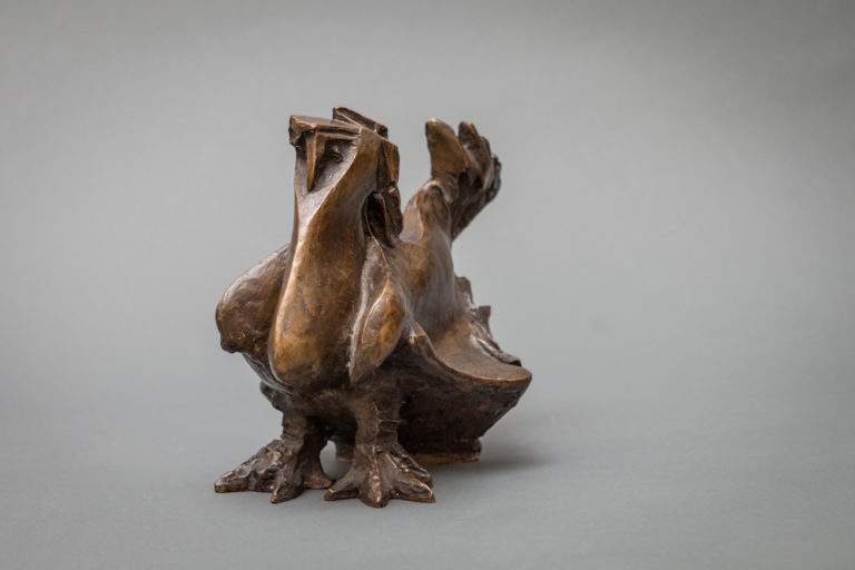 Bronze Sculpture of a Bird Signed: Lily Landis