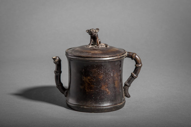 Bronze Water Container with Tiger on Lid