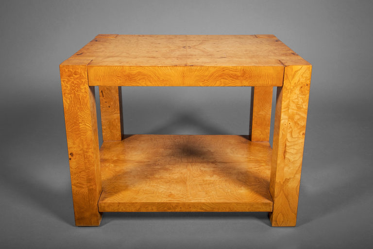 Burl Veneer Side Table