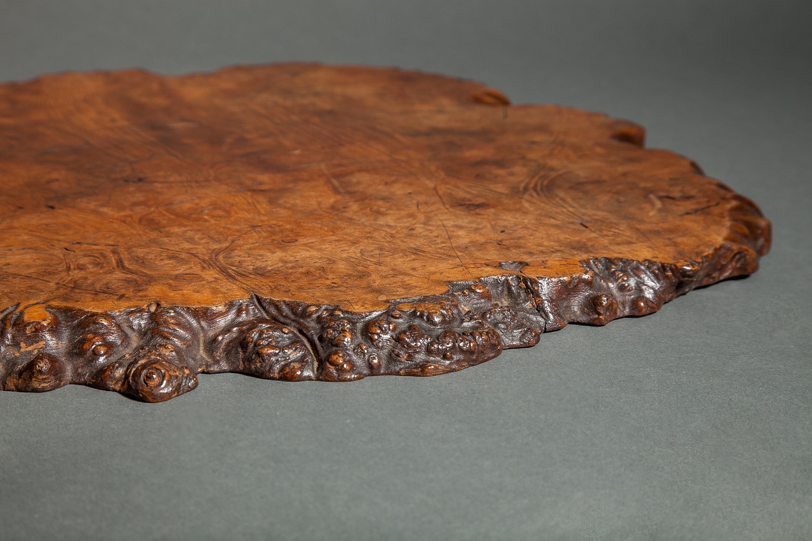 Burl Wood Offering Tray