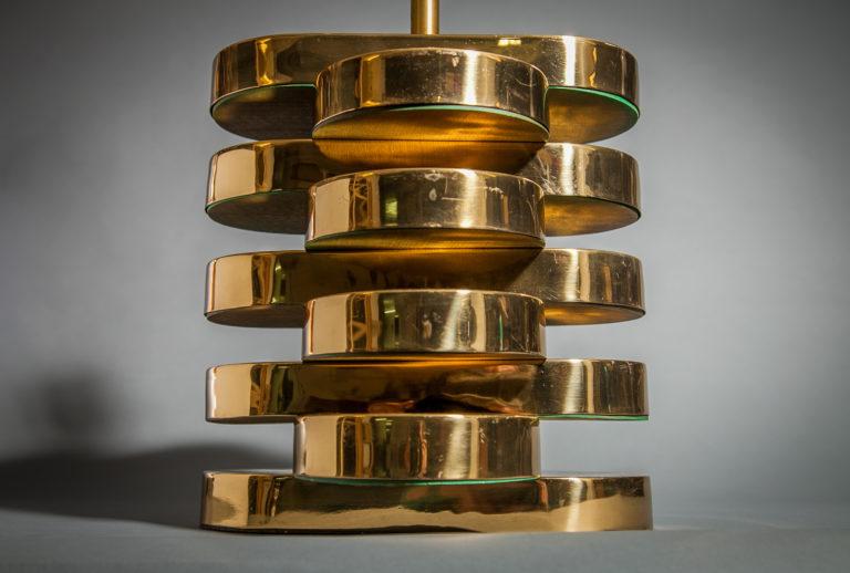 Carl Springer Brass Lamp
