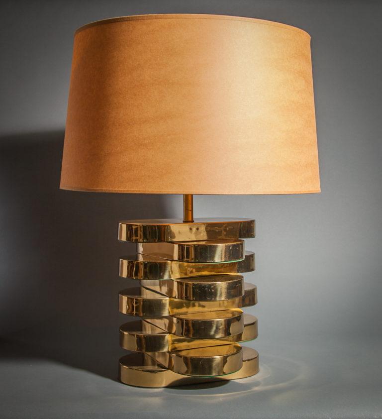 Karl Springer Brass Lamp