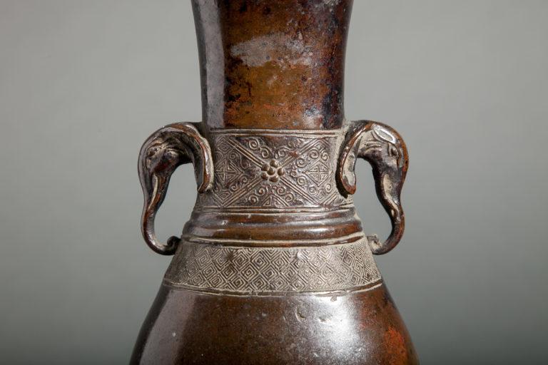 Chinese 18th Century Bronze Flower Vase