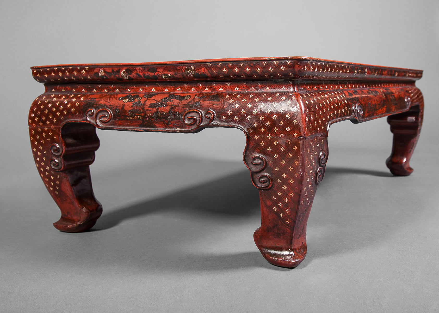 Chinese 18th Century Red Lacquer Table
