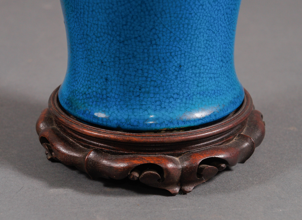 Chinese 19th Century Vase Made into a Lamp