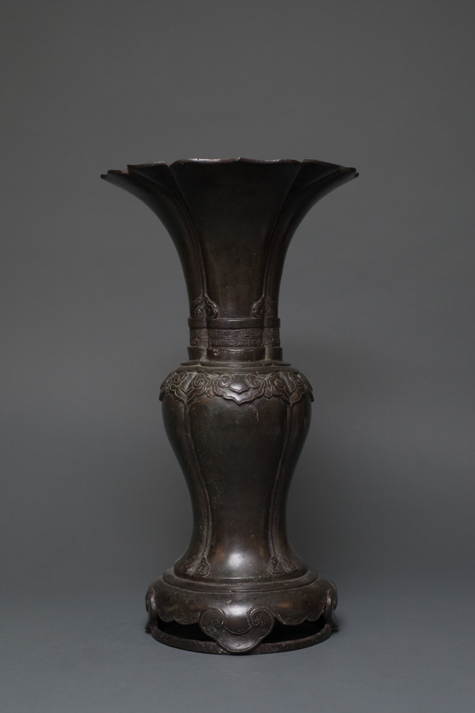 Chinese Bronze Flower Vase