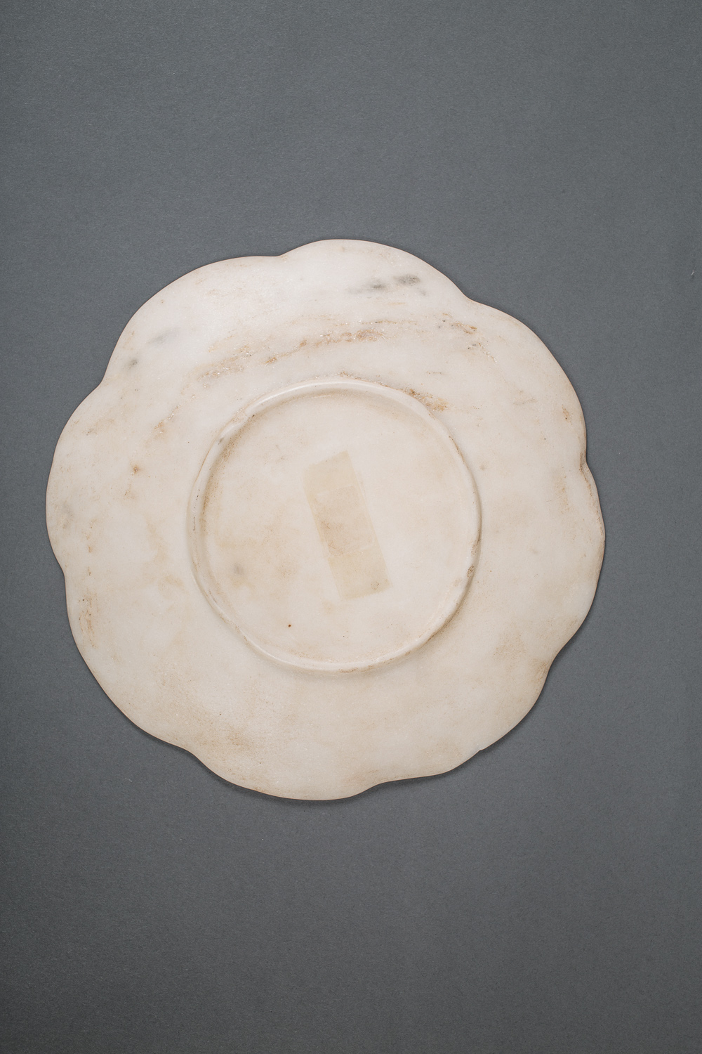 Chinese Marble Lobed Plate