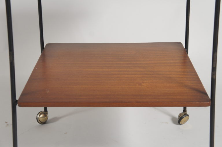 Italian Mid Century Modern Small Table on Wheels