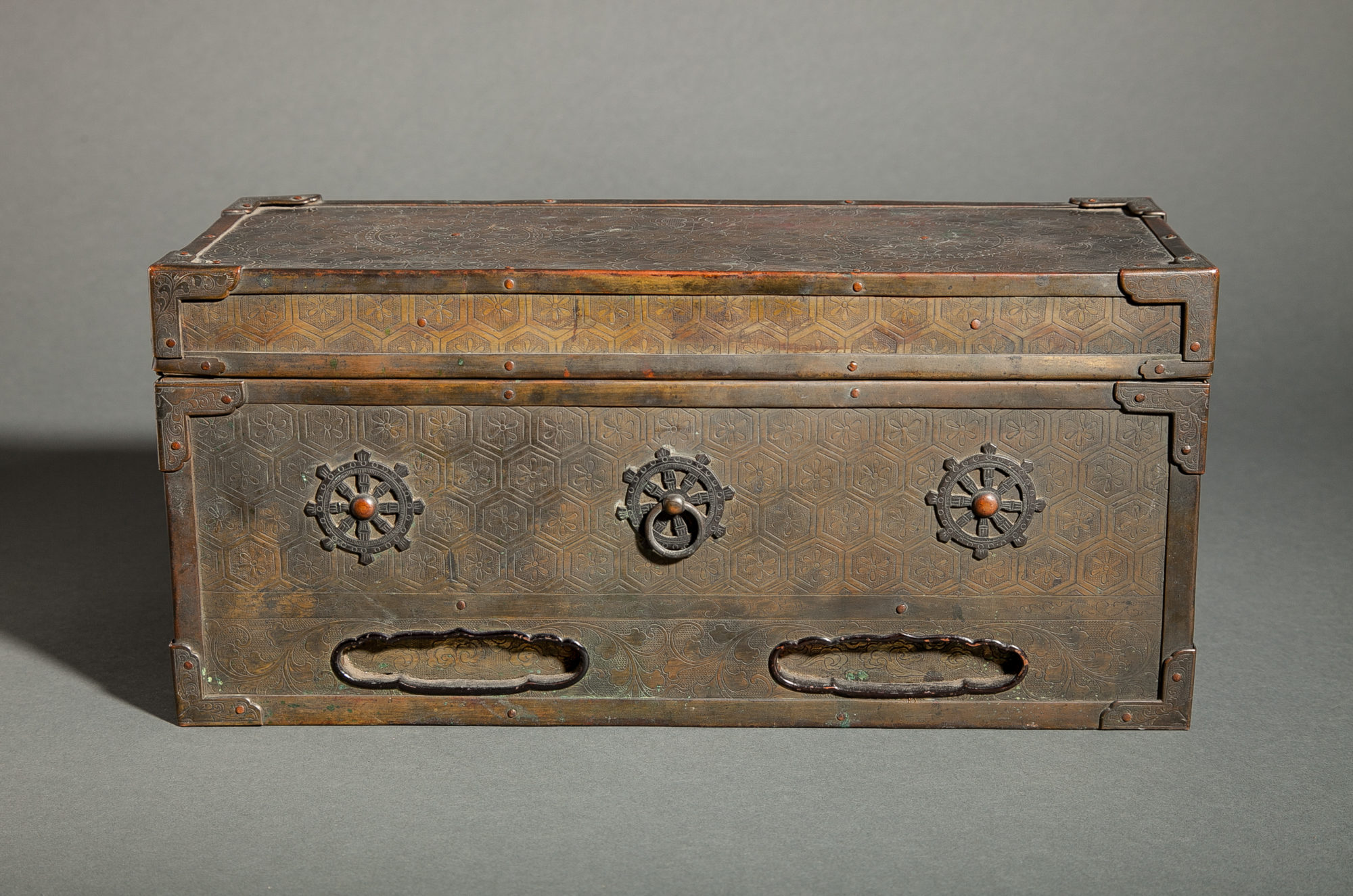 Japanese 16th – 17th Century Bronze Sutra Box