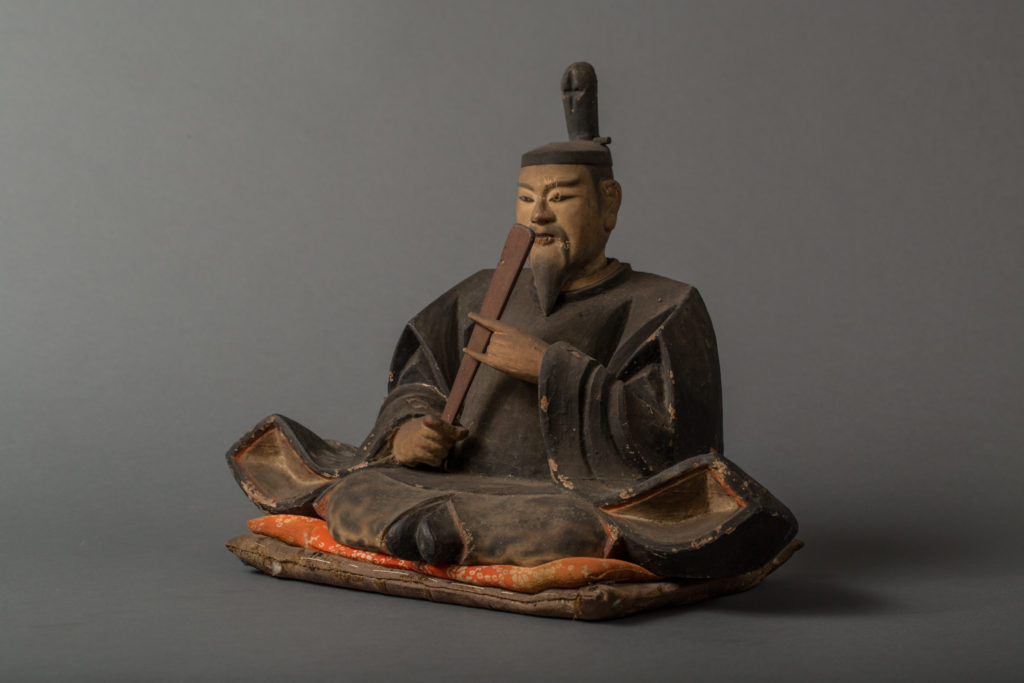 Japanese 17th Century Shrine with Figure of Tenjin