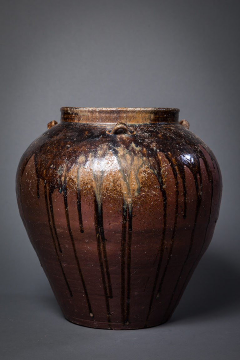 Japanese 17th Century Tamba Earthen Jar