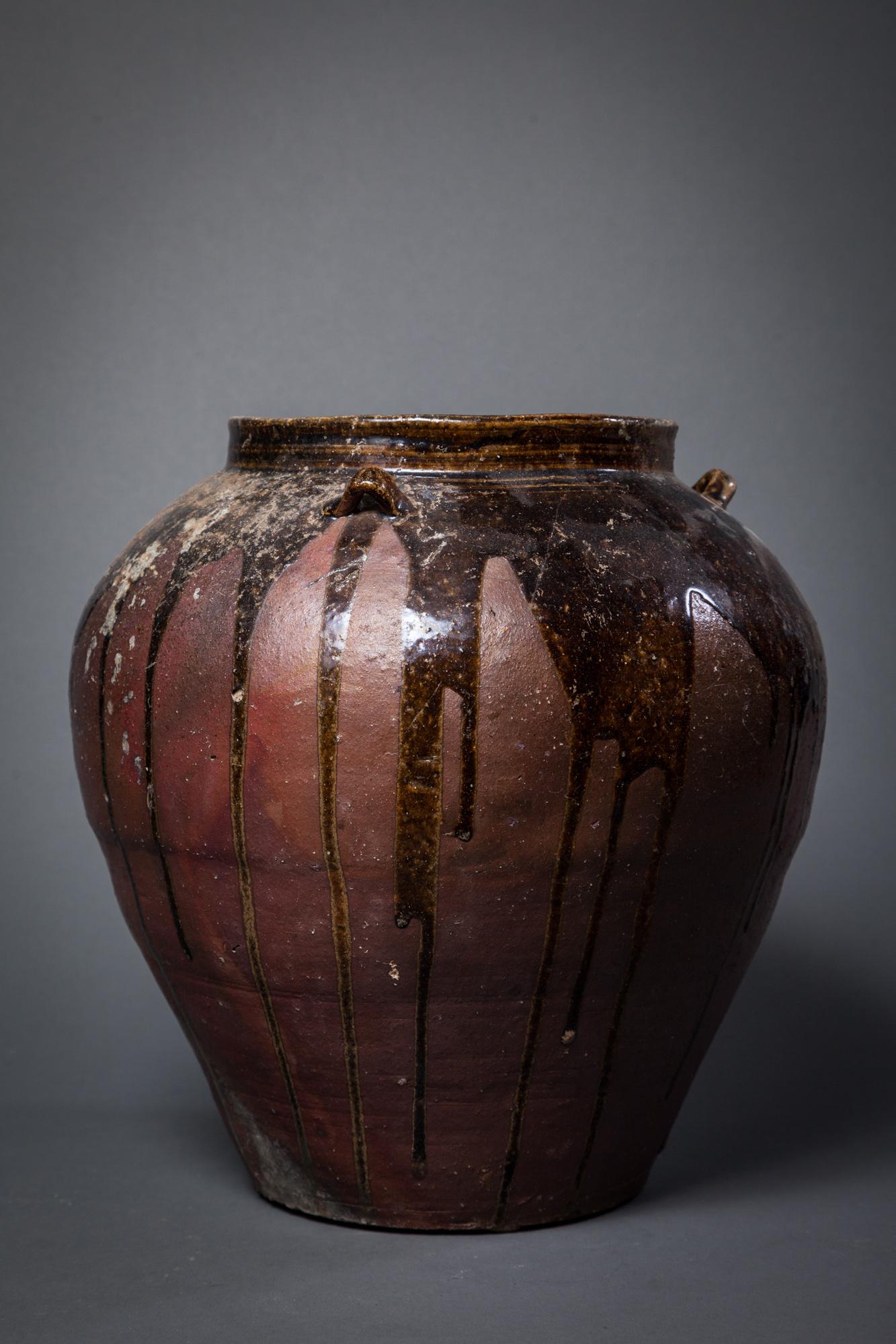 Japanese 17th Century Tamba Earthen Jar