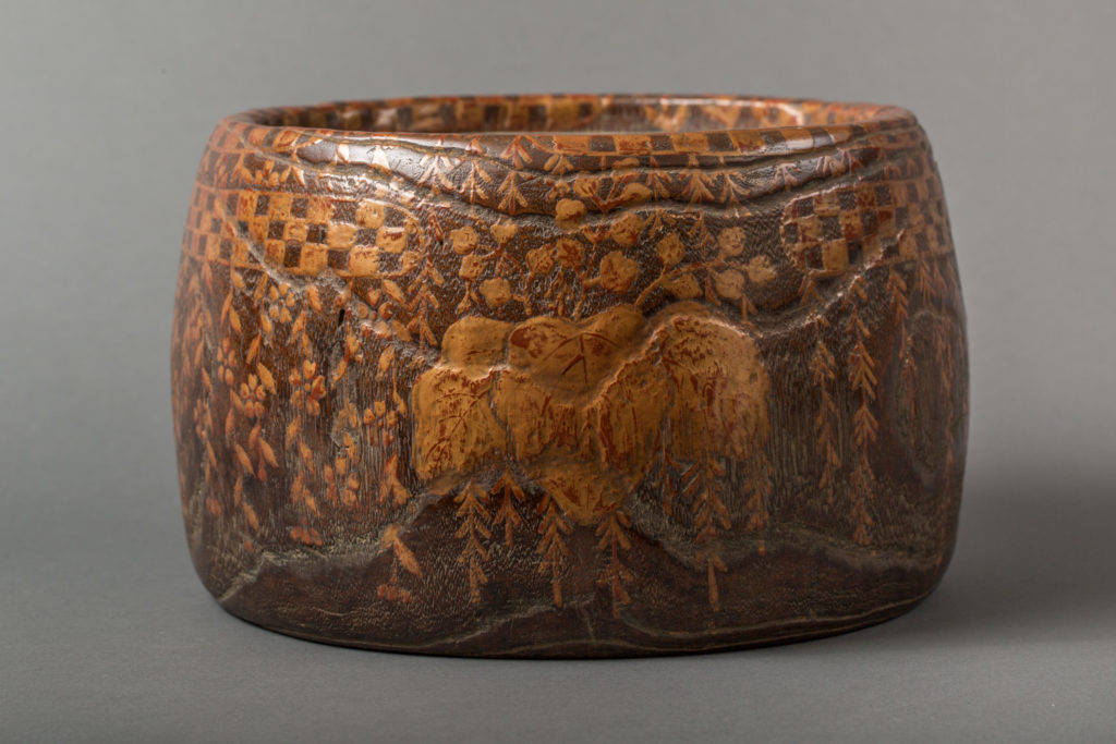Japanese 18th Century Wood and Lacquer Hand Warmer, Hibachi
