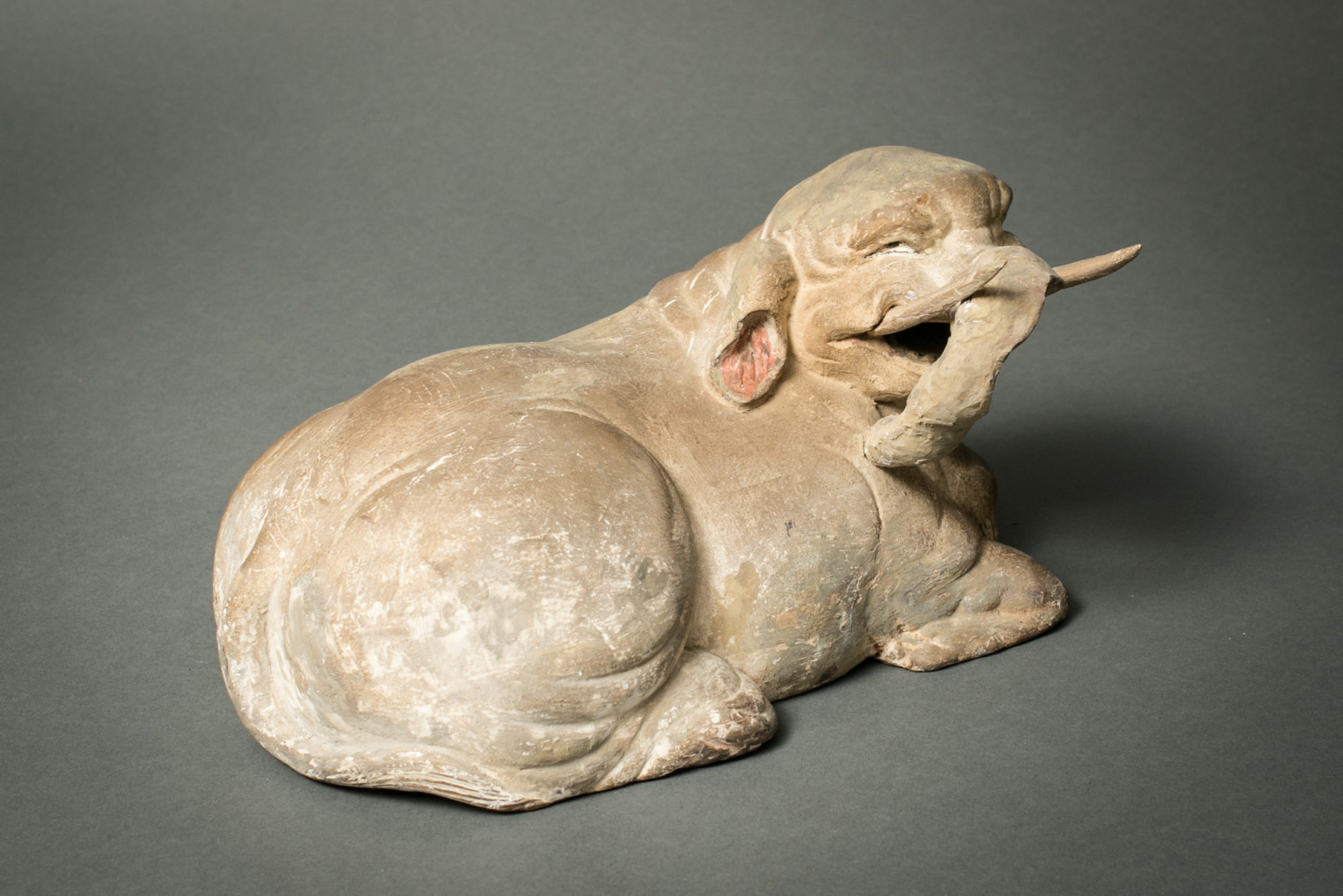 Japanese 18th Century Wood Carving of a White Elephant