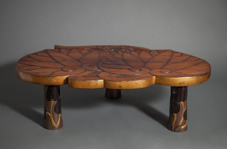 Japanese 19th Century Carved Top Table/Stand