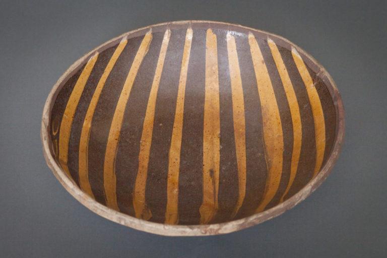 Japanese 19th Century Striped Bowl