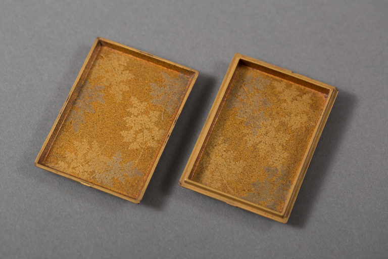Japanese Antique Kogo (Incense Box) In The Form of a Paper Incense Package