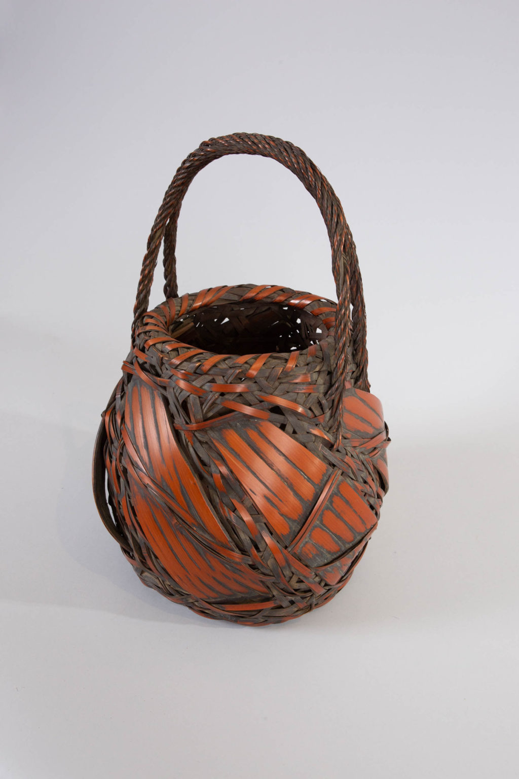 Japanese Antique Large Bamboo Basket for Flower Arranging (Ikebana)