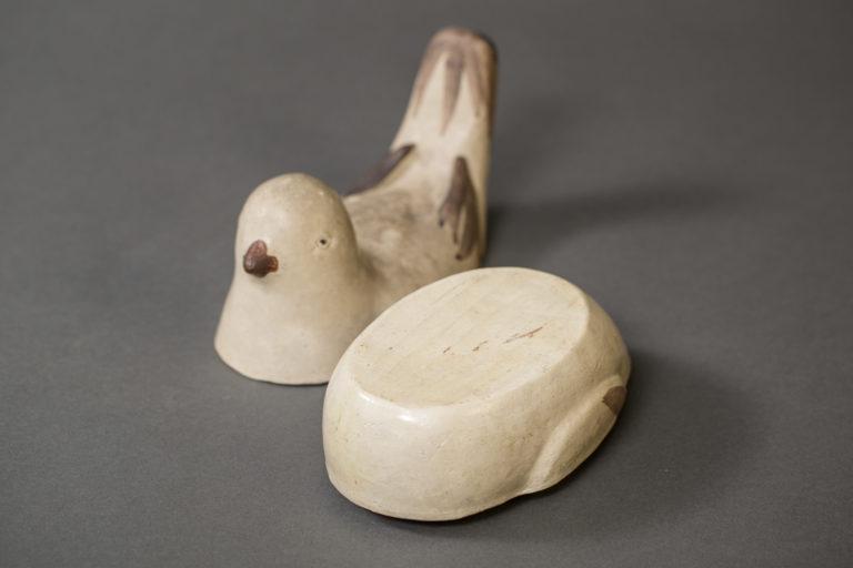 Japanese Antique Seto-ware Bird Shaped Ceramic Box
