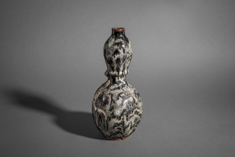 Japanese Antique Shigaraki Gourd-Shaped Vase