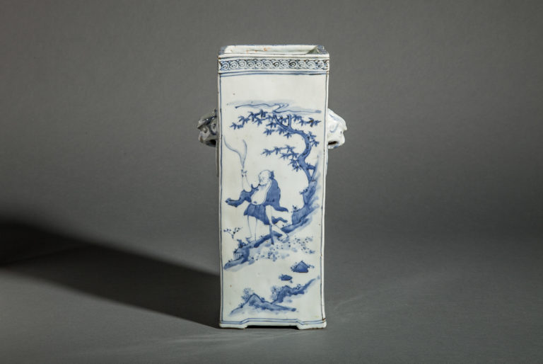 Japanese Antique Sometsuke Ceramic Vase