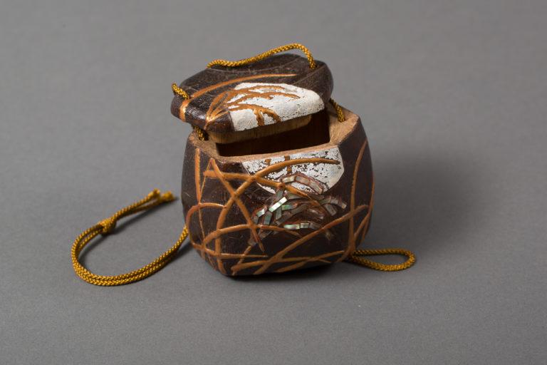 Japanese Antique Sugi Wood Tobacco Box (Inro)