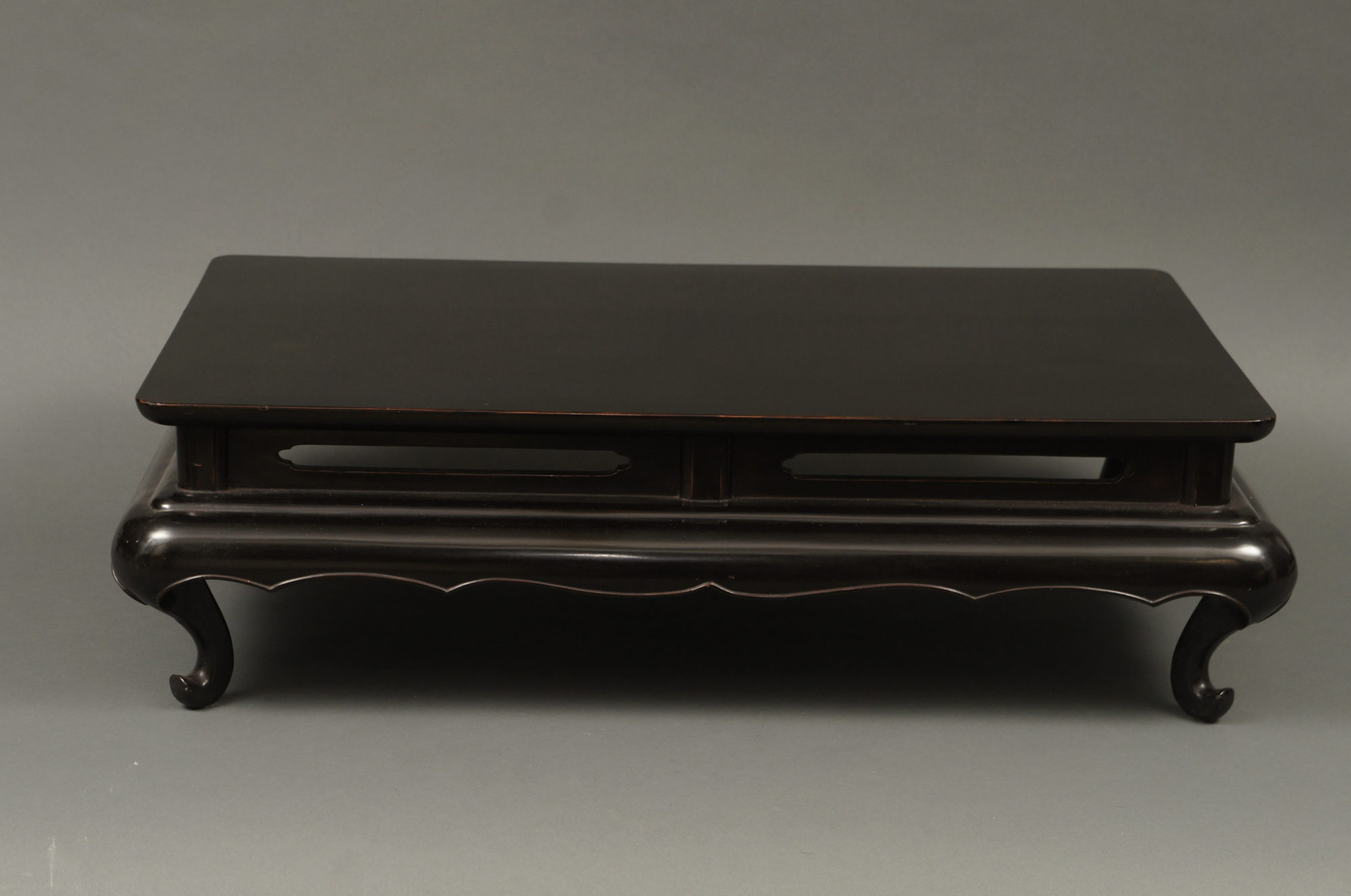 Japanese Black Lacquer Stand Presentation Table