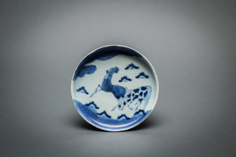 Japanese Blue and White Imari with Horse