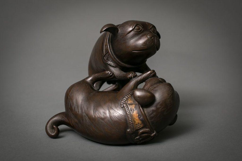 Japanese Bronze Puppies