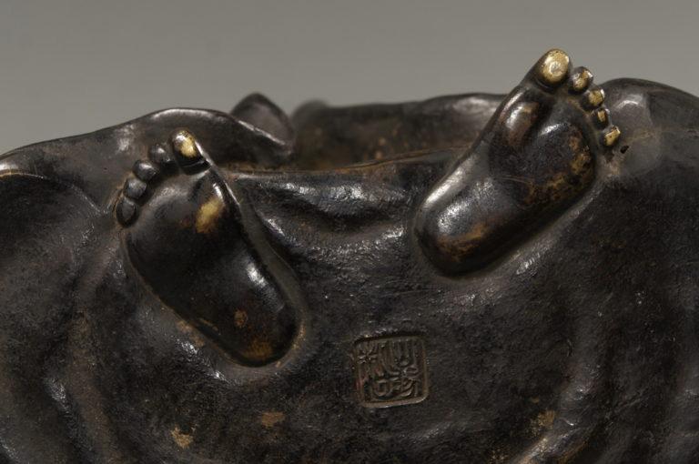 Japanese Bronze Sculpture of Daruma
