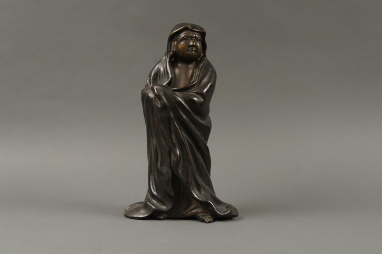 Japanese Bronze Sculpture of Daruma