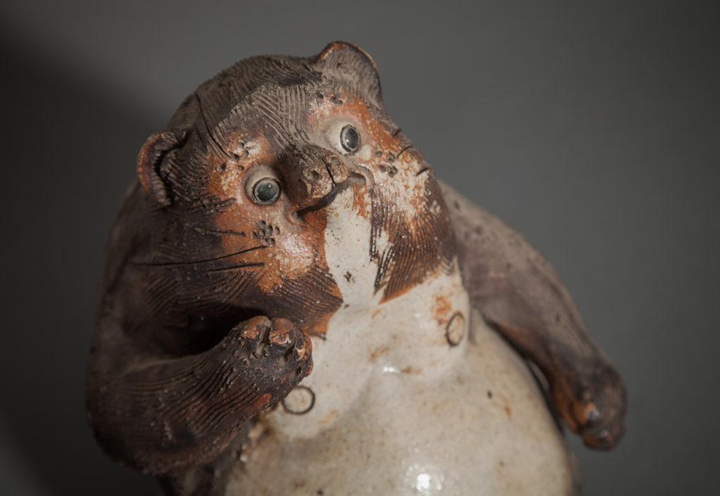 Japanese Ceramic Figure of a Badger (Tanuki)