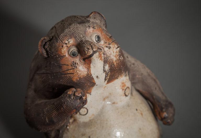 Japanese Ceramic Figure of a Badger (Tanuki) Shigeraki Kiln