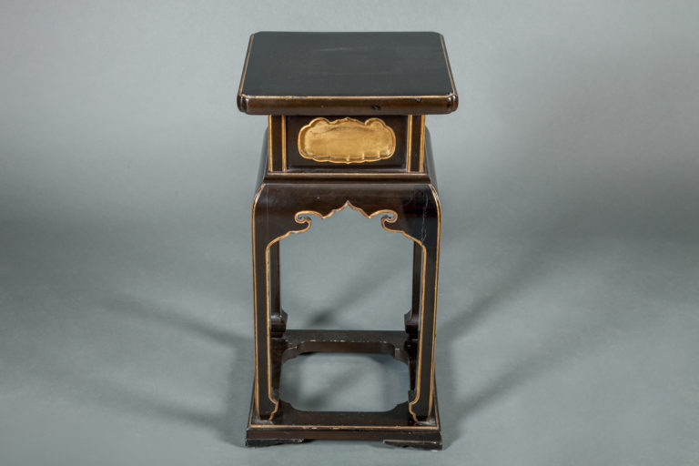 Japanese Early 19th Century Black and Gold Temple Table