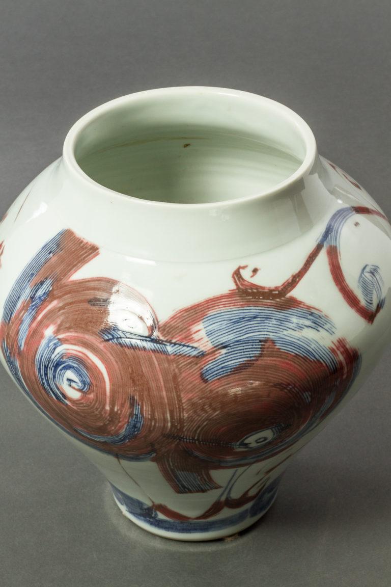 Japanese Glazed Ceramic Vase