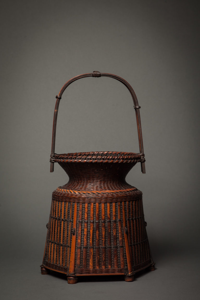 Japanese Hexagonal Bamboo Basket