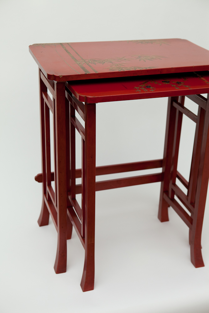 Japanese Lacquer Nesting Tables