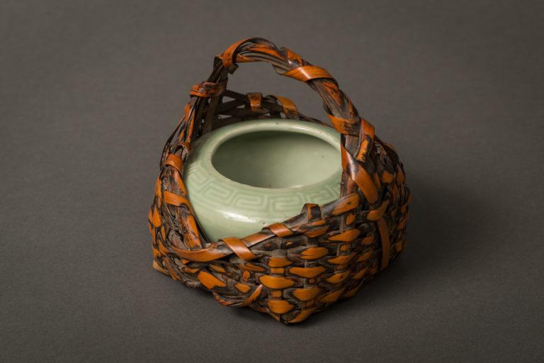 Japanese Miniature Hibachi in a Basket