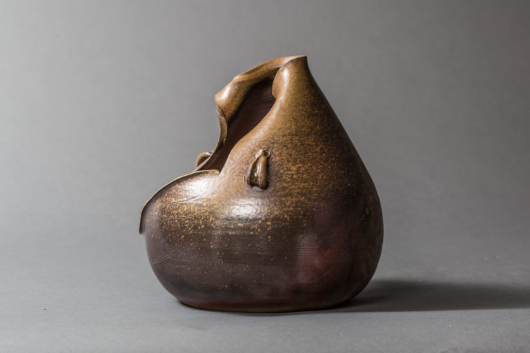 Japanese Modern, Showa Period, Bizen Flower Arranging Vase