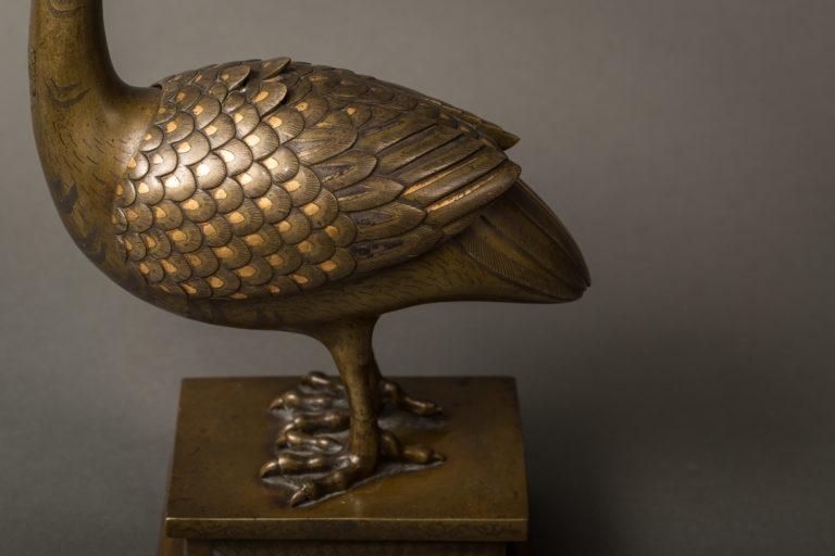 Japanese Multi-Metal Bronze Koro (Incense Burner)