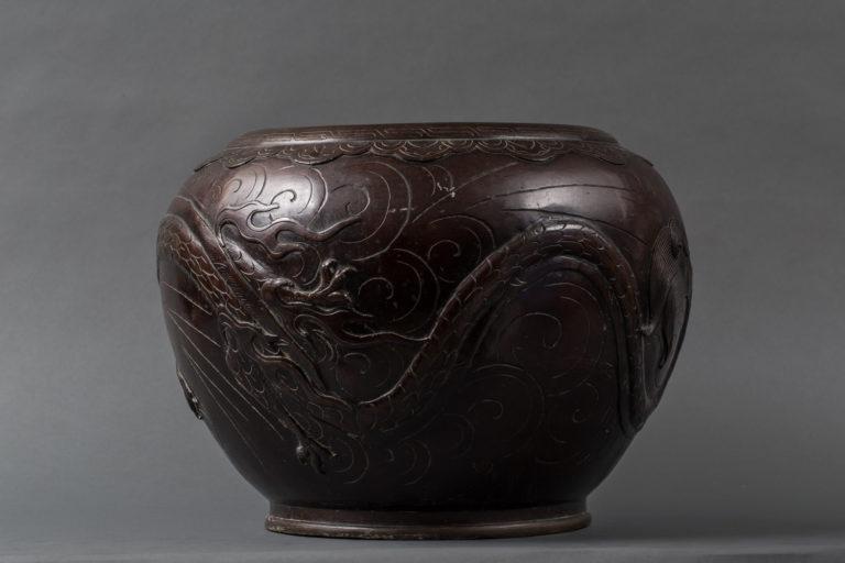 Japanese Patinated Bronze Jardiniere