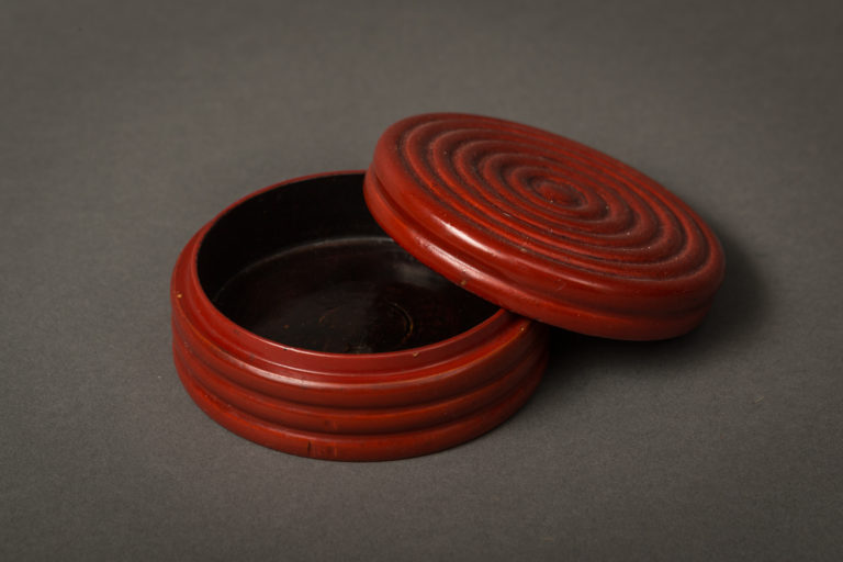 Japanese Red Lacquer Kogo (Incense Container)
