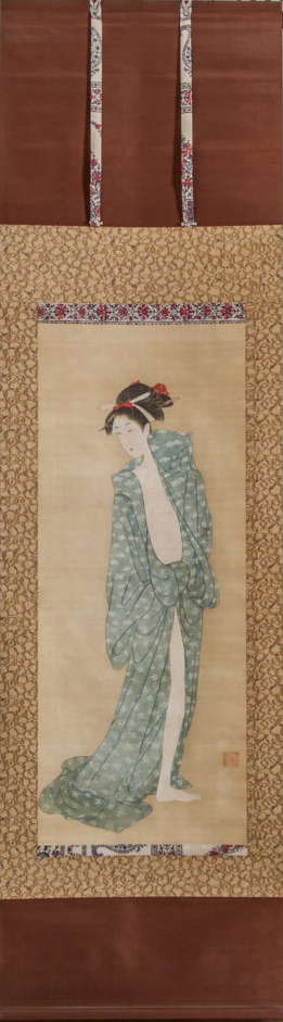 Japanese Scroll: Bijin After The Bath In Summer